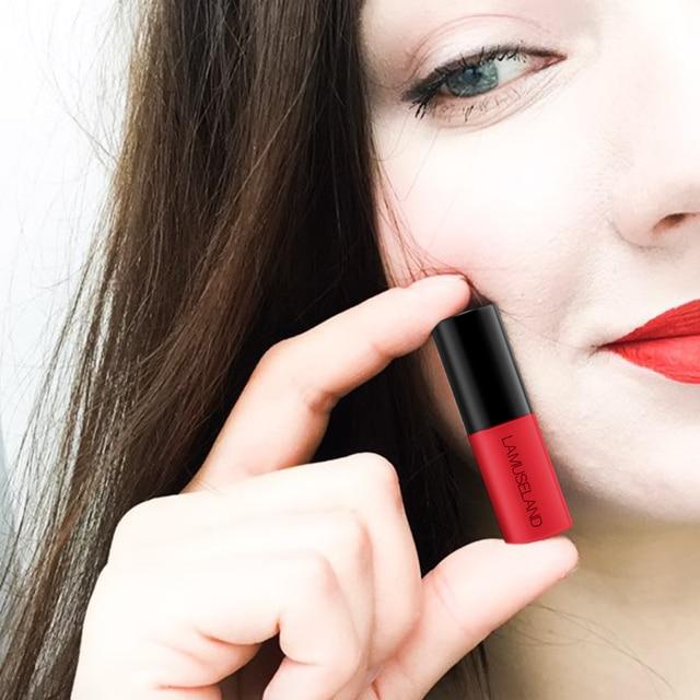 Waterproof Long-Lasting Matte Mini Liquid Lipstick Easy To Carry 12 Colors 3.5g Lip Makeup Brand LAMUSELAND #L18L11