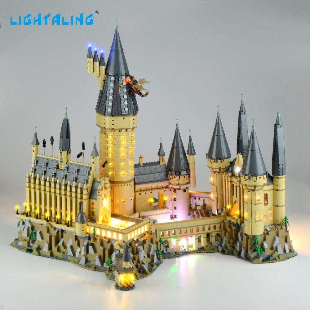 Lightaling Lumière Ensemble Harry Potter Poudlard Château de LED Lumière Kit Compatible Avec 71043 (NE PAS Inclure Le Modèle)