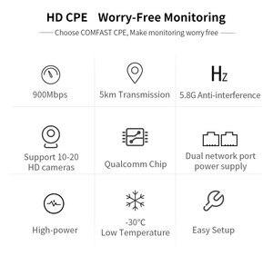 Image 5 - COMFAST 5KM 900Mbps 5.8Ghz 옥외 무선 교량 WIFI CPE 접근 지점 12dBi wi fi 안테나 Nanostation wifi 반복기 CF E313AC