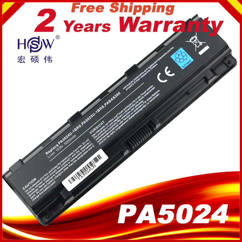Laptop Battery For Toshiba Satellite PA5024U-1BRS 5024 5023 C850 C855D PA5023U-1BRS PA5024 PA5023  PA5024U