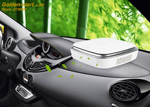 Car Air Purifier Solar Anion Humidifier Ionizer Car Air Freshener Oxygen Bar