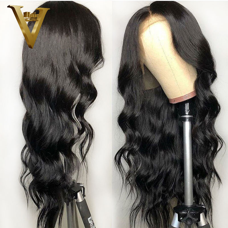 Body Wave Lace Front Human Hair Wigs For Black Women Bleached Knots Brazilian Remy Lace Front
