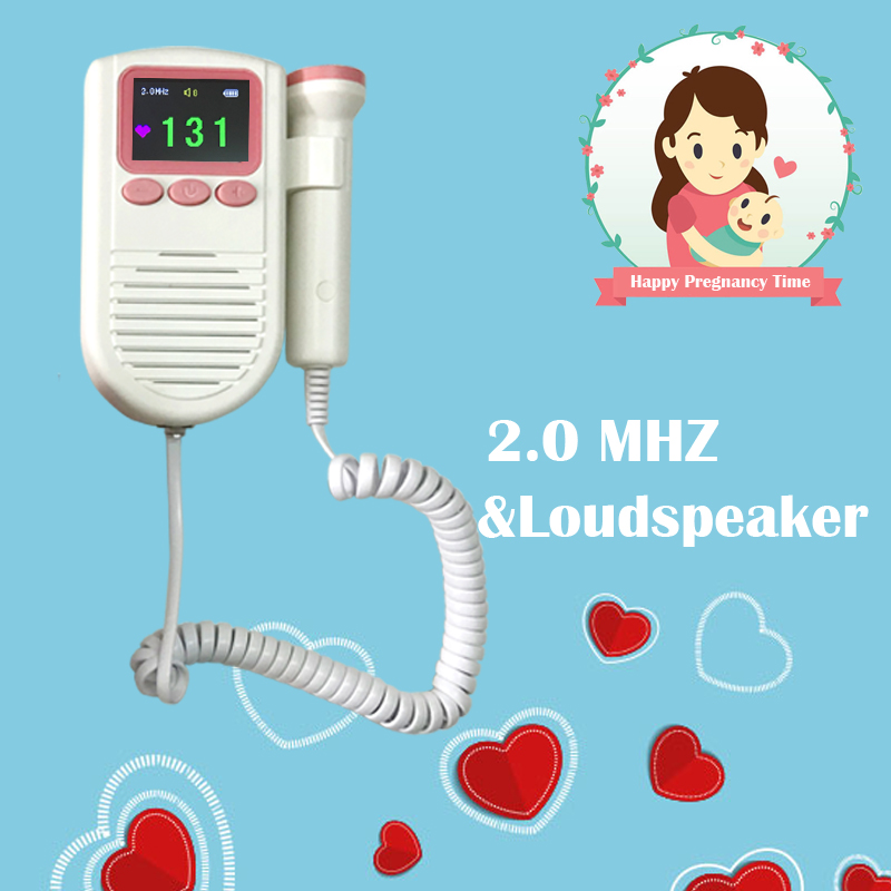 Hotsale Fetal Doppler Baby Fetal Heart Rate Monitor for Pregnant Women 2.0Mhz Probe with FHR Scale with Loudspeaker fetal doppler fd 200 fetal heart rate detection device easy to use for home fhr portable ultrasonic diagnostic baby lcd screen