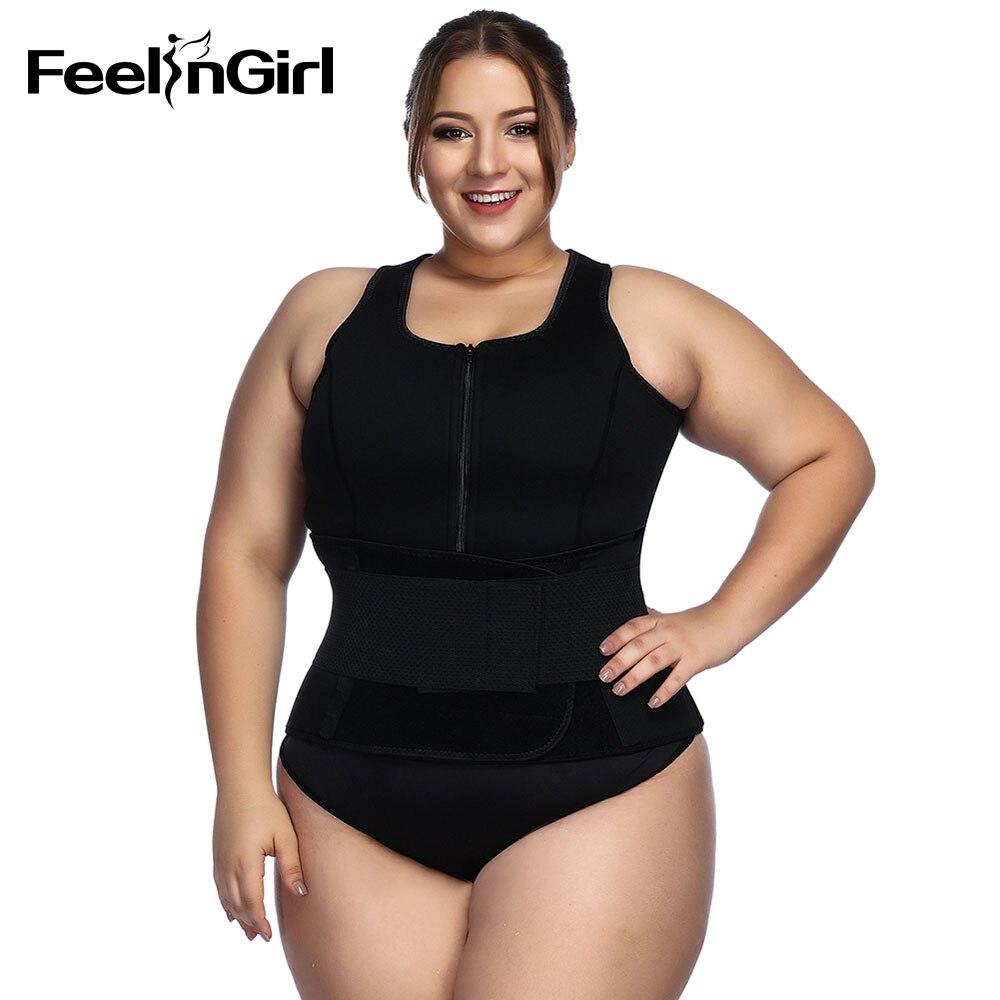 FeelinGirl néoprène Sauna gilet corps Shaper minceur taille formateur Shapers hauts entraînement Shapewear réglable sueur ceinture
