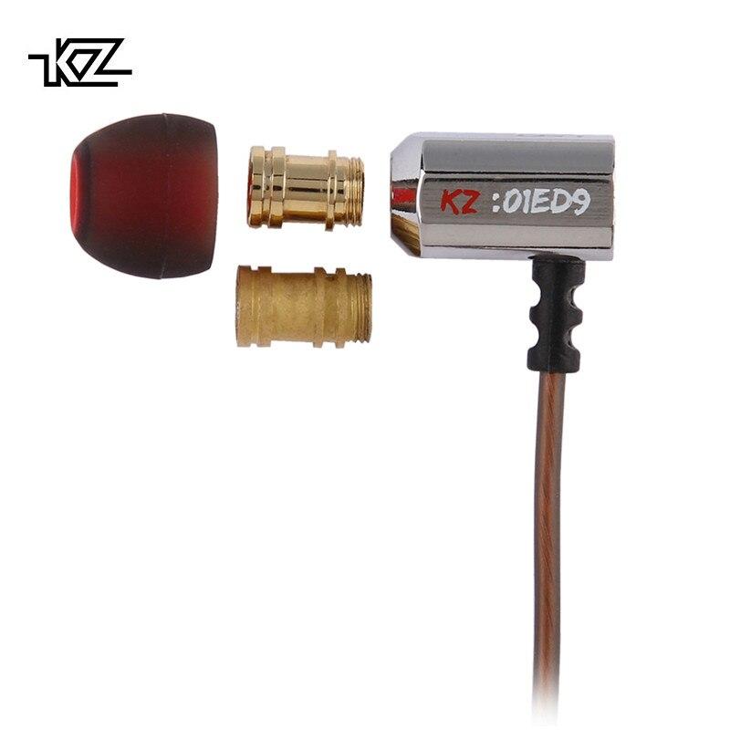 KZ ED9 Fone de ouvido In Ear para monitoramento de motorista formato em sintonização fone de ouvido HiFi com microfone transparente de som