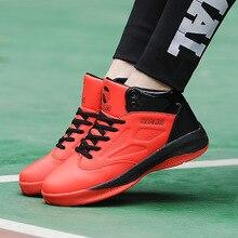 купить High-top Basketball Shoes Men Women Cushioning Light Basketball Sneakers Men Zapatos Hombre Breathable Outdoor Sports Shoes дешево