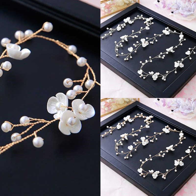 Crown Haar Pins Hochzeit Haar Zubehör Frauen Blumen Diademe Bräute Perle Braut Kopfschmuck Für Freundin Haar Ornamente