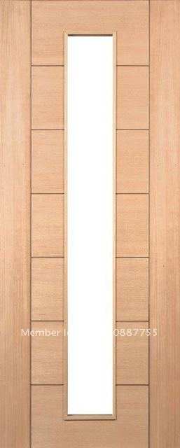 Deanta Solid Wood European Design Walnutoak Interior Door In Doors