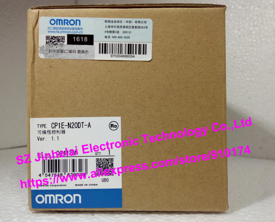 New and original CP1E-N20DT-A OMRON PLC controller [zob] new original omron omron beam photoelectric switch e3jk tr12 c 2m 2pcs lot