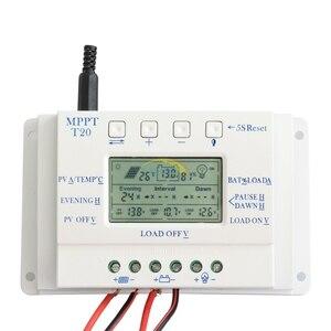 Image 2 - LCD Display 20A MPPT 12 v/24 v Zonnepaneel Battery Regulator Laadregelaar voor Verlichting Systeem Load Licht en Timer