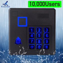IP65 Waterproof rfid smart card reader standalone access 10000 Users Large Capacity Keypad Proximity Access Control Outdoor Use