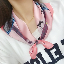 2019 Spring New Line Small Square Scarf Paragraph Vintage Ins Literary Women