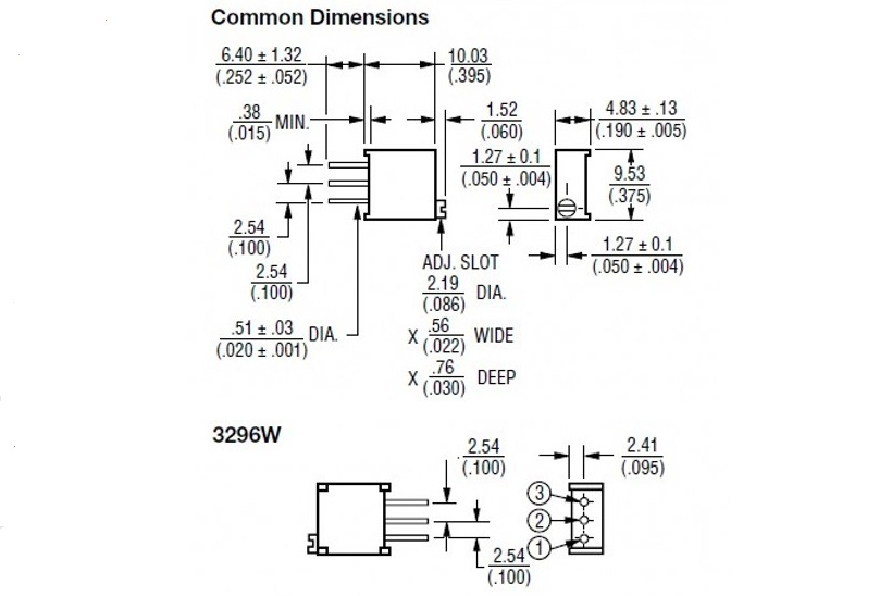 20K Ohm 203 3296W Potentiometer Poti Precision Trimmer Multiturn Trimpot