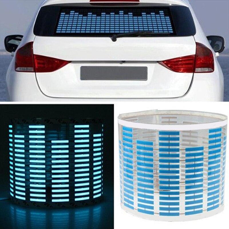 Led Car Light Car Sticker Music Rhythm Led Flash Light Lamp Sound Activated Equalizer Car