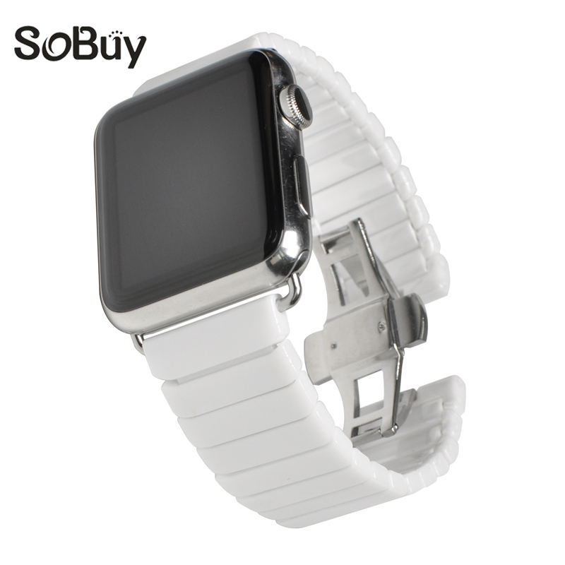 So buy Ceramic band for Apple Watch sport Series 1/2/3 Watchband 38mm s1 Link Bracelet Wristband for iWatch 42mm S2 Wrist strap so buy sport silicone band strap for apple watch nike 42mm 38mm bracelet wrist watch watchband iwatch apple bands series 3 2 1