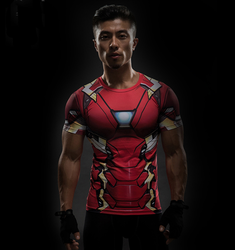 halloween costumes superhero ironman tony stark compression 3d printed t shirt men short sleeve fitted tops in t shirts from mens clothing accessories on