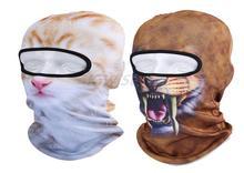 Мужская 3D Животных Hat Балаклава Cat Лыж Лицо Мотоцикл Маска Ветрозащитный Капот Головные Уборы Крышка Вентиляции Пыли Шеи Шапочка Veil Cap