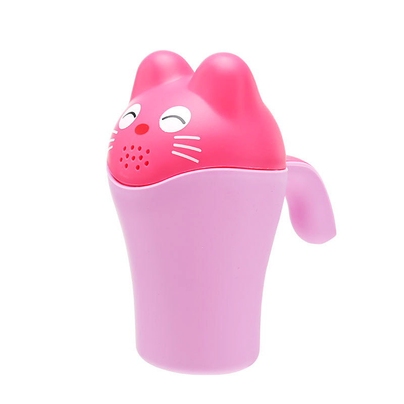 Baby Kids Cartoon Bathing Cup Shower Shampoo Bailer Water Spoon Bath Wash Cups @ZJF