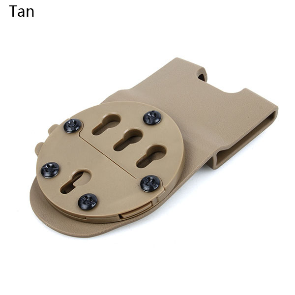 Military Airsoft Tactical Drop Pistol Platform GC Mounting System G17 1911 Waist Hanging Holster Platform for Hunting gs7-0081