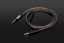 كابل صوتي مطلي بالفضة جديد مع ميكروفون لأجهزة Sennheiser HD 4.30i HD 4.30G 4.40BT 4.50BTNC HD 400S HD 450BT HD 458BT سماعات