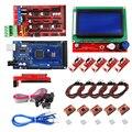 Mega 2560 R3 + RAMPS 1 4 контроллер + ЖК-дисплей 12864 + 5 концевой выключатель + 5 A4988 шаговый драйвер