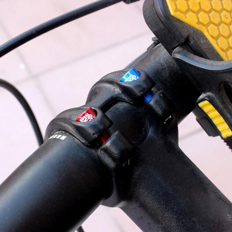 4pcs//bag Bicycle Handlebar Stem Screw M5x17mm Aluminum Alloy Bolt Fixed Gear HR