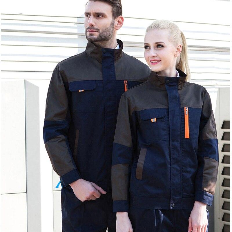 10 Sets  Working Clothes Set Men's Long Sleeve Labor Protection Suit Decoration Work Clothes Auto Repair Maintenance Factory