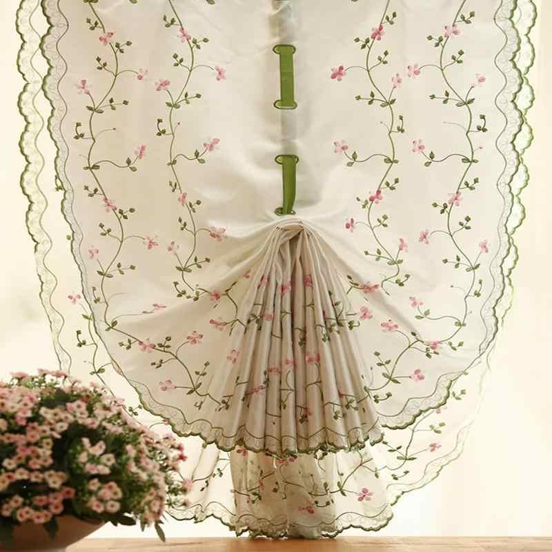 Sáng Vườn Hoa Thêu Tùy Chỉnh Rèm Cửa Sheer Tulle Sợi cho Tường Màn Hình Phòng Ngủ Rèm Phòng Khách 80*100 cm hộ gia đình