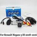 Para Renault Megane III 3 2008 ~ 2016/Traseira Do Carro Com Fio Ou Sem Fio Câmera de visão/RCA HD CCD de Visão Noturna/Lente Grande Angular câmera