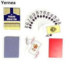 Новое поступление красный и синий 1 шт. покер баккара Техасский Холдем водонепроницаемый глазурь пластиковые игральные карты 2,48*3,46 дюйма ...