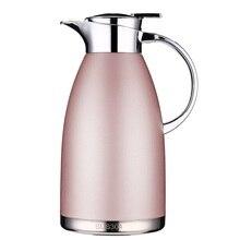 1.8L/2.3L termo térmico jarra para agua cliente lanzador de acero inoxidable de doble capa aislado botella de vacío botella de café te tetera
