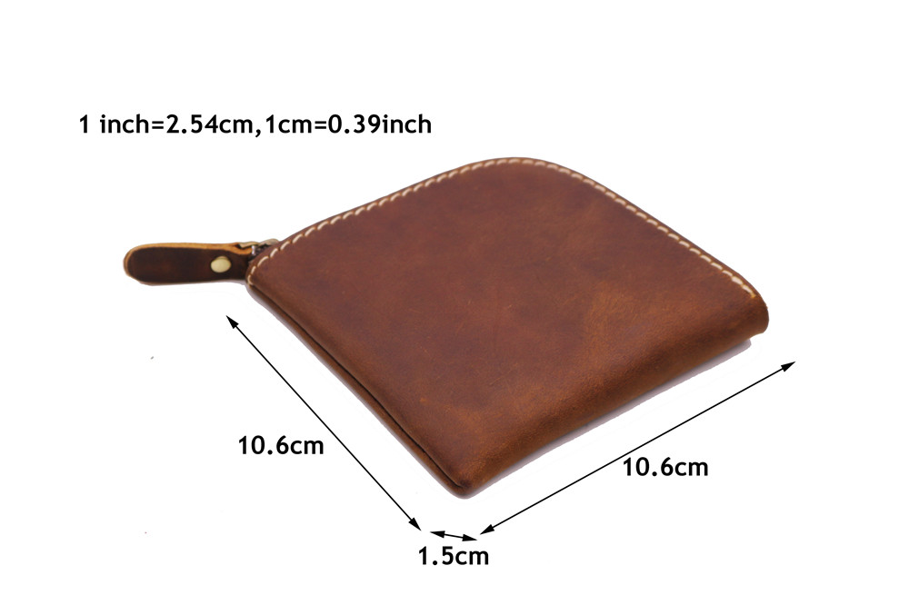 Handmade Mini Wallet Genuine Leather Men Wallets Male Crazy Horse