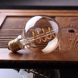 Image 5 - LED Dimmable רטרו אדיסון הנורה E27 220V 3W זהב ספירלת נימה ST64 A19 LED מנורת בציר ליבון דקורטיבי LED תאורה
