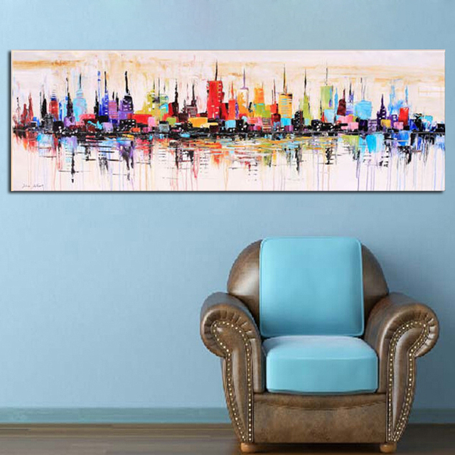 buy new york city picture canvas painting. Black Bedroom Furniture Sets. Home Design Ideas