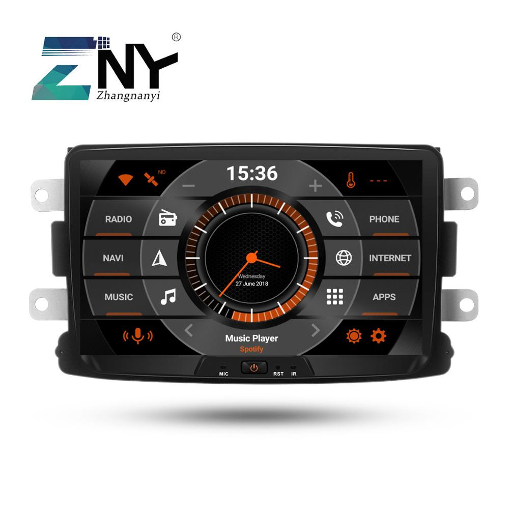 8 IPS Android 9.0 Car Stereo GPS For Renault Duster Dacia Sandero Logan Lodgy Captur Radio FM Navigation DSP Audio Rear Camera