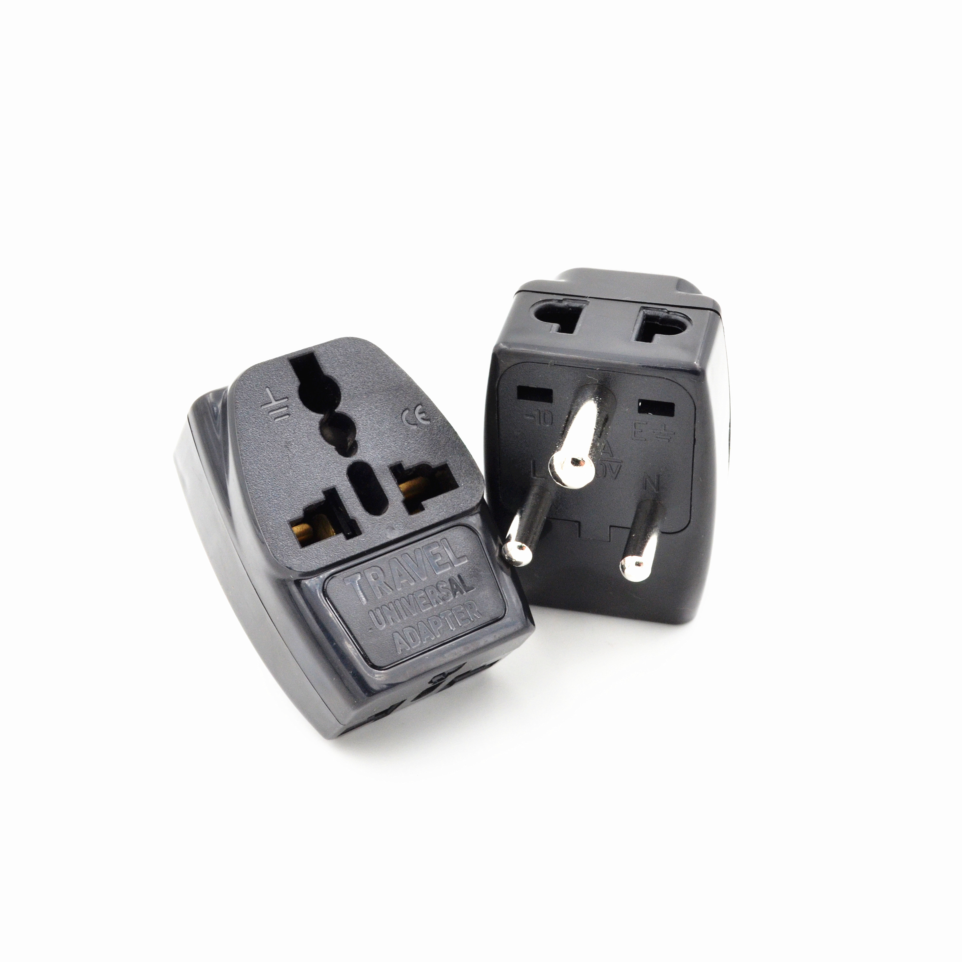Us to uk ac power plug white black travel wall adapter plug converter - 2016 Type D Travel Adapter With 3 Power Outlet Black Color 1 To 2 To Uk