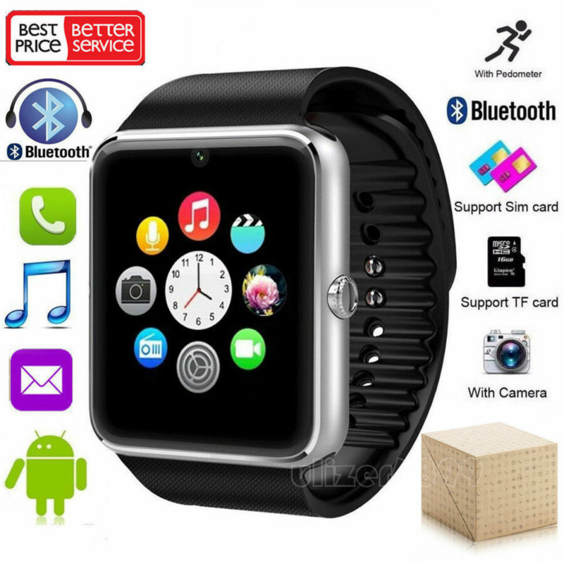GT08 Bluetooth Smart Watch For Apple Watch Men Women Android Wristwatch Smart Electronics Smartwatch With Camera SIM TF Card