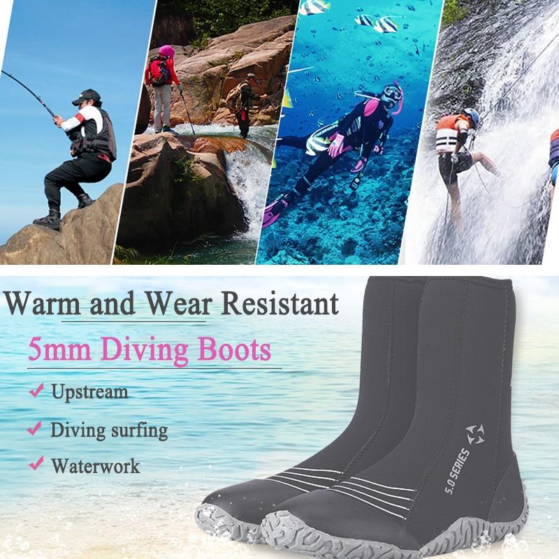 2018 hommes femmes Sports nautiques plage chaussettes 5mm néoprène plongée bottes surf plongée chaussures anti-dérapant natation palmes combinaison