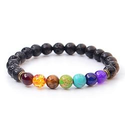 Natural lava stone bead charm bracelets women 7 reiki chakra bracelets healing balance bracelet for men.jpg 250x250
