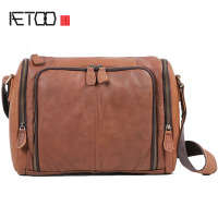 AETOO Original retro to do the old frosted leather shoulder bag handbag postman bag mad horses men hand messenger bag