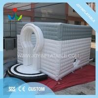 Новый дизайн, сот отделка надувной куб Серый Белый гигантские надувные палатки Водонепроницаемый воздушный дом для торжественных мероприя