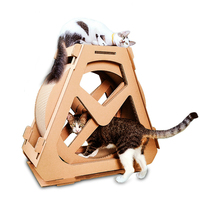 Pets Rotating Ferris Wheel Corrugated Paper for Cats Tree Climbing Litter with Scratch Board Cat Furniture Cats Scratching Posts