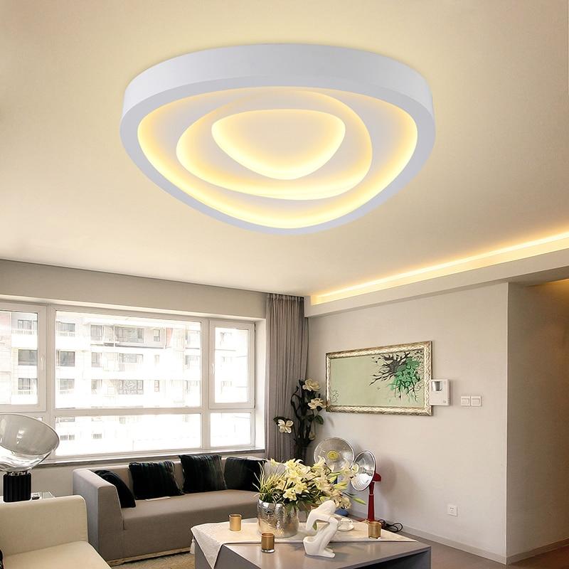 Moderne led salon plafonniers conception acrylique lampe ...