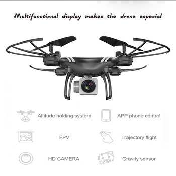 Mini RC Drone With Camera HD 4-Axis Aircraft Wide-angle 2MP 5MP WiFi Camera Real Time Video RC Quadcopter Drone KY101 For 3
