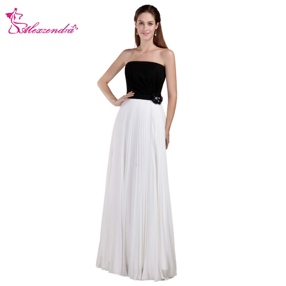 Alexzendra Black Top A Line Chiffon Long   Prom     Dresses   Formal Evening Gown Party   Dresses   Plus Size