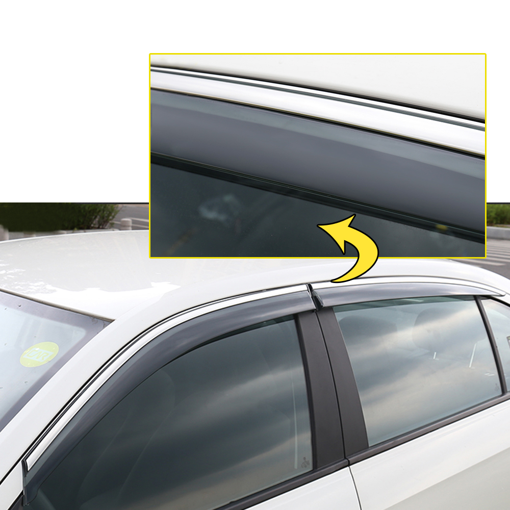 Window Visors Rain Guard Vent Deflectors For Mitsubishi Eclipse Cross 2018 Side