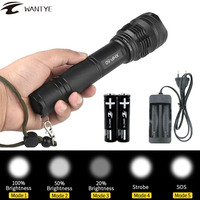 XHP50 LED Flashlights 26650 18650 Tactical Flashlight Zoomable LED Torch Light Powerful Lamp Zoom Waterproof Lighting