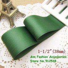 1088, бесплатная доставка 1-1/2 »38 мм оливково-зеленая однотонная цветная корсажная лента, lwd003