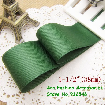 Greens /& Yellow Solid Grosgrain Ribbon Berisfords 7 Colours 5 Widths Free P /& P