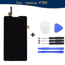 For lenovo P780 LCD Display Screen with Touch Screen Assembly Replacement For lenovo P780 Free 7 in 1 tools